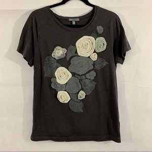 J. Crew Slub Cotton Faded Floral Tee Size XL